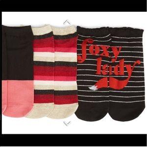 🆕 kate spade ♠️ Foxy Lady No Show Socks 3 Pack